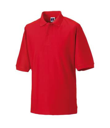 Russell Mens Classic Short Sleeve Polycotton Polo Shirt (Bright Red) - UTBC566