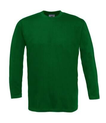 B&C Exact 150 Lsl - T-Shirt À Manches Longues - Homme (Vert bouteille) - UTBC2010
