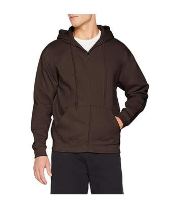 Fruit Of The Loom Mens Premium 70/30 Hooded Zip-Up Sweatshirt / Hoodie (Chocolate) - UTRW3161