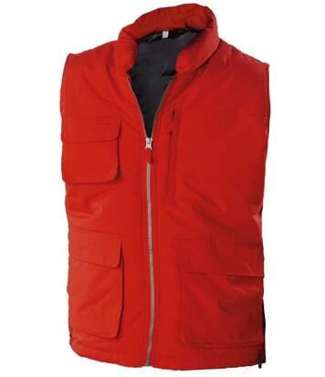 Veste sans manches bodywarmer matelassé - K615 - rouge