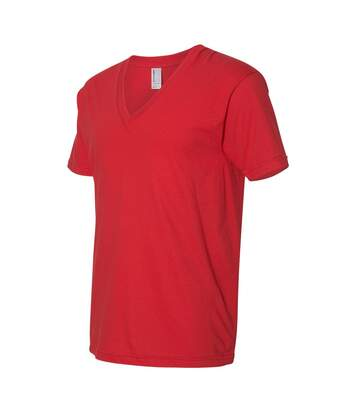 American Apparel - T-Shirt Col V - Homme (Rouge) - UTBC4007