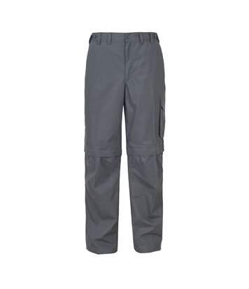 Trespass Mens Mallik Convertible Water Repellent Cargo Trousers (Graphite) - UTTP242