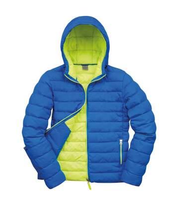 Result Urban Mens Snowbird Hooded Jacket (Ocean/Lime) - UTBC3255