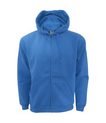 Fruit Of The Loom Mens Zip Through Hooded Sweatshirt / Hoodie (Royal) - UTBC360