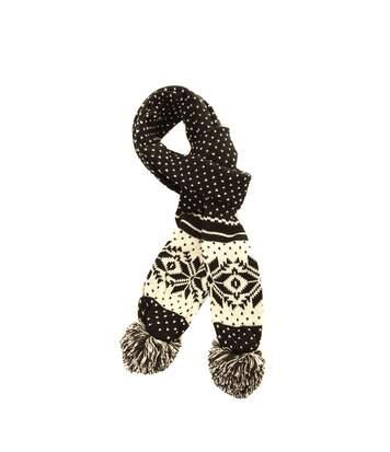 Écharpe Tricotée À Motif Hivernal - Femme (Noir) (Taille unique) - UTSK199