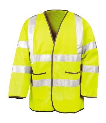 Result Mens High-Visibility Motorway Safety Jacket (EN471 Class 3 Approved) (Pack of 2) (Fluorescent Yellow) - UTRW6880