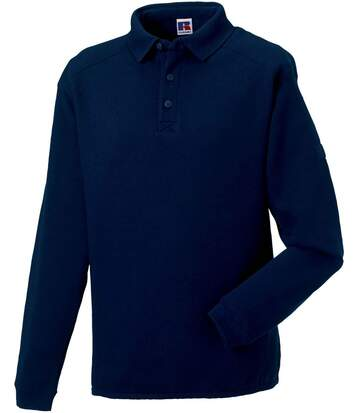 Sweat-shirt lourd col polo pour homme - R-012M-0 - bleu marine