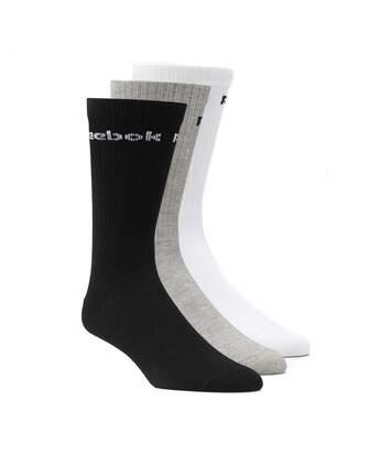 Pack 3 paires de Chaussettes blanc/noir/gris homme/femme Reebok
