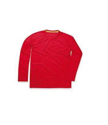 Stedman Mens Active 140 Long Sleeved Tee (Crimson Red) - UTAB344