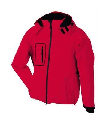 Veste softshell hiver Homme - JN1000 - Rouge