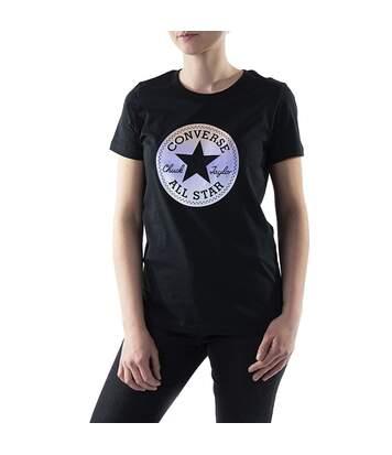 T-Shirt noir femme Converse Nova Chuck Taylor Patch