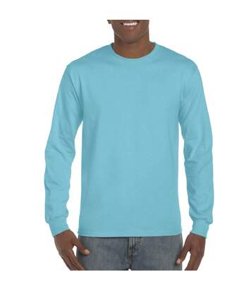 Gildan Mens Long Sleeve Hammer Shirt (Lagoon Blue) - UTBC4573