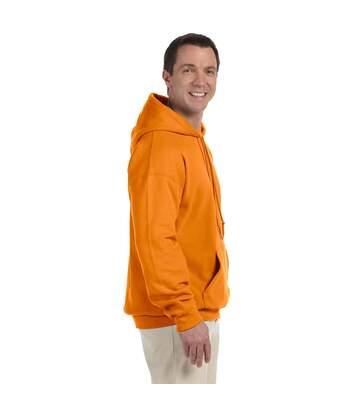 Gildan Heavyweight DryBlend Adult Unisex Hooded Sweatshirt Top / Hoodie (13 Colours) (Safety Orange) - UTBC461