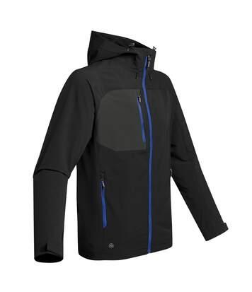 Stormtech Mens Sidewinder Shell Jacket (Black/ Azure Blue) - UTBC3879