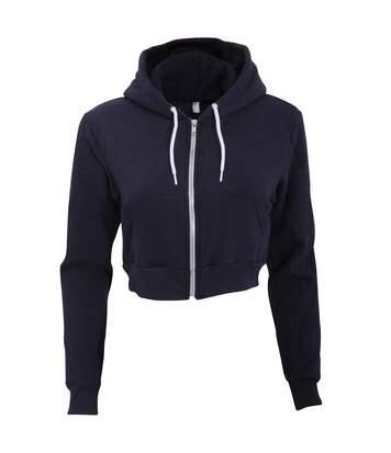 American Apparel Flex - Sweatshirt À Capuche Et Fermeture Zippée Raccourci - Femme (Bleu marine) - UTRW4026