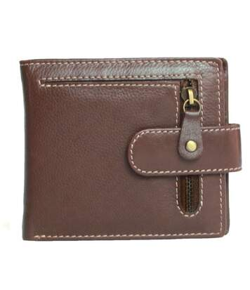 Eastern Counties Leather - Portefeuille Double Avec Zip (Marron) - UTEL297