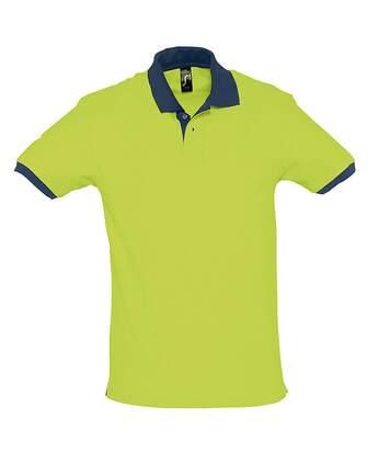 Polo homme bicolore - 11369 - vert