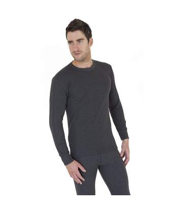 Mens Thermal Underwear Long Sleeve T Shirt Top Polyviscose Range (British Made) (Charcoal) - UTTHERM12
