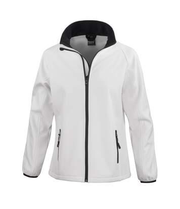 Result Womens/Ladies Core Printable Softshell Jacket (White/ Black) - UTRW3696