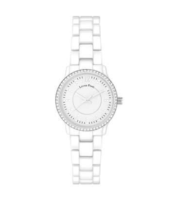 Montre Femme LOUISE PEARL Ornée de Cristaux Swarovski bracelet Céramique Blanc