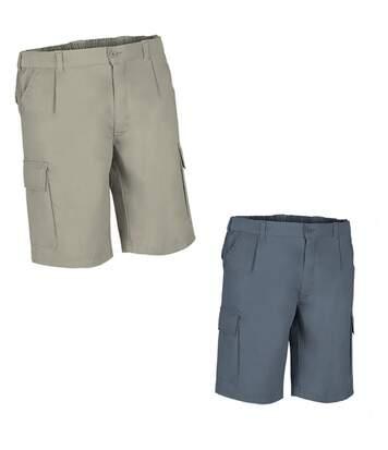 Lot 2 Bermudas pour homme - DESERT - gris et beige sable