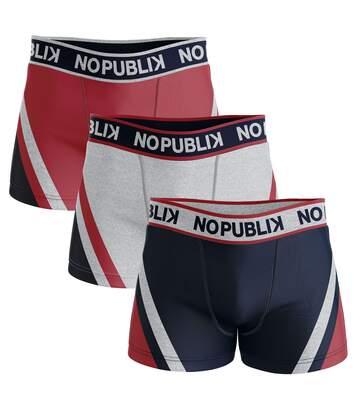 Lot de 3 boxers coton homme graphic