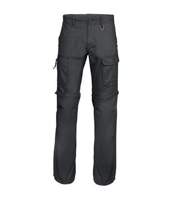 Kariban Mens Zip-off Multi-Pocket Work Trousers (Black) - UTRW4228