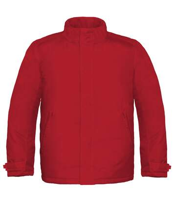 B&C Mens Real+ Premium Windproof Thermo-Isolated Jacket (Waterproof PU Coating) (Deep Red) - UTBC2002