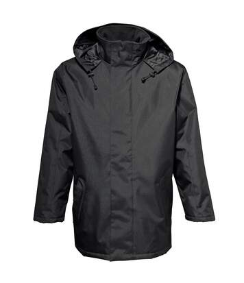 2786 Mens Plain Parka Jacket (Water & Wind Resistant) (Black) - UTRW2505