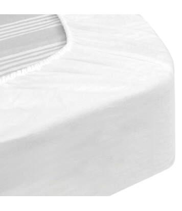 Protège matelas imperméable 130x200 cm bonnet 50cm ARNON molleton 100% coton contrecollé polyuréthane