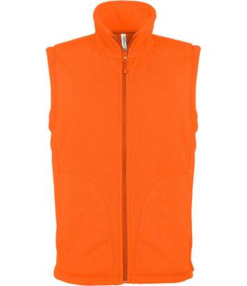 Gilet sans manches micro polaire homme - K913 - orange