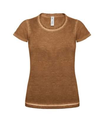 B&C - T-Shirt Denim 100% Coton - Femme (Marron) - UTRW3042