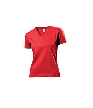 Stedman - T-Shirt Col V - Femme (Rouge) - UTAB279