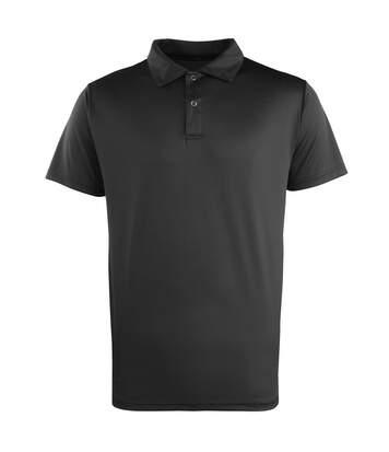 Premier Unisex Coolchecker Studded Plain Polo Shirt (Black) - UTRW1110