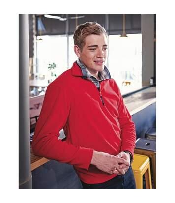 Regatta Mens Micro Zip Neck Fleece Top (170 GSM) (Classic Red) - UTBC830