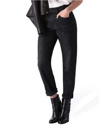 Jean noir boyfriend taille haute stretch   -  Diesel - Femme