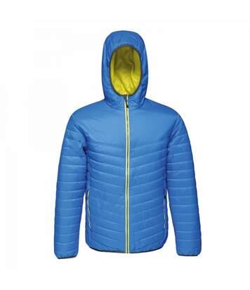 Regatta Mens Acadia II Hooded Jacket (Black Blue/Lemon Yellow) - UTRG3745
