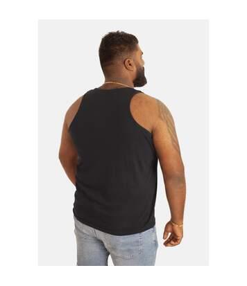 Duke Mens Fabio-1 Muscle Vest (Black) - UTDC173