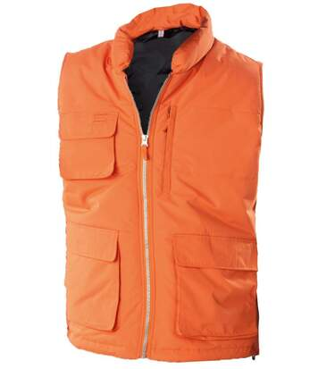 Veste sans manches bodywarmer matelassé - K615 - orange