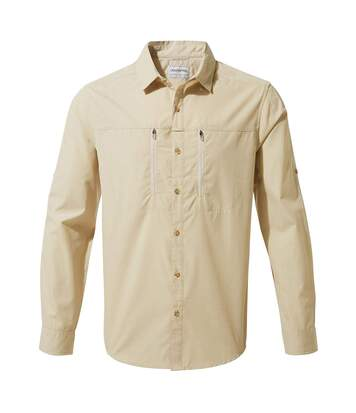 Craghoppers Mens Kiwi Boulder Long Sleeved Shirt (Oatmeal) - UTCG1103