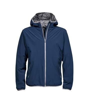 Tee Jays Mens Competition Soft Shell Jacket (Navy/Light Grey) - UTPC3845