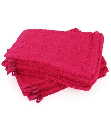 Lot de 12 gants de toilette 16x21 cm ALPHA rose Fuschia