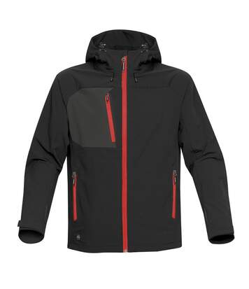 Stormtech Mens Sidewinder Shell Jacket (Black/Bright Red) - UTBC3879