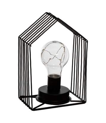 Atmosphera - Lampe en métal Noir MicroLed H 18 cm