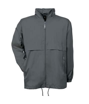B&C Mens Air Lightweight Windproof, Showerproof & Water Repellent Jacket (Dark Grey) - UTBC1281