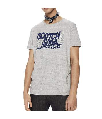 Graphic Artwork Homme Tee-Shirt Gris  Scotch & Soda