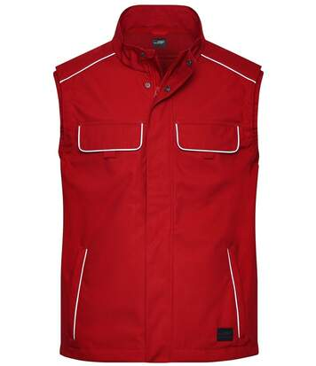 Gilet de travail léger softshell - JN881 - rouge