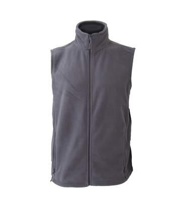 Jerzees Colour Fleece Gilet Jacket / Bodywarmer (Convoy Grey) - UTBC576