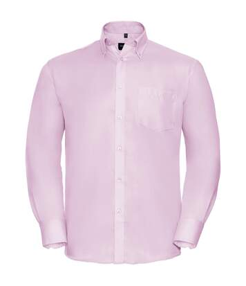Russell Collection Mens Long Sleeve Ultimate Non-Iron Shirt (Classic Pink) - UTBC1035