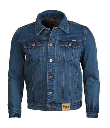 Duke Mens Western Trucker Style Denim Jacket (Stonewash) - UTDC102